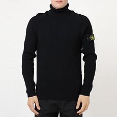 [국내] [KAK명품관] 19FW 스톤아일랜드 와펜 터틀넥 스웨터 블랙 7115542C2 V0029